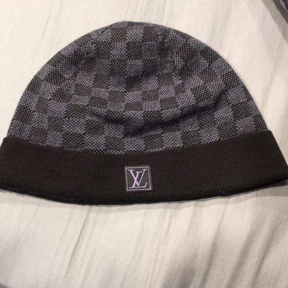 e03be378598 Louis Vuitton Other - Petit Damier Louis Vuitton Dark Blue Checkered Hat